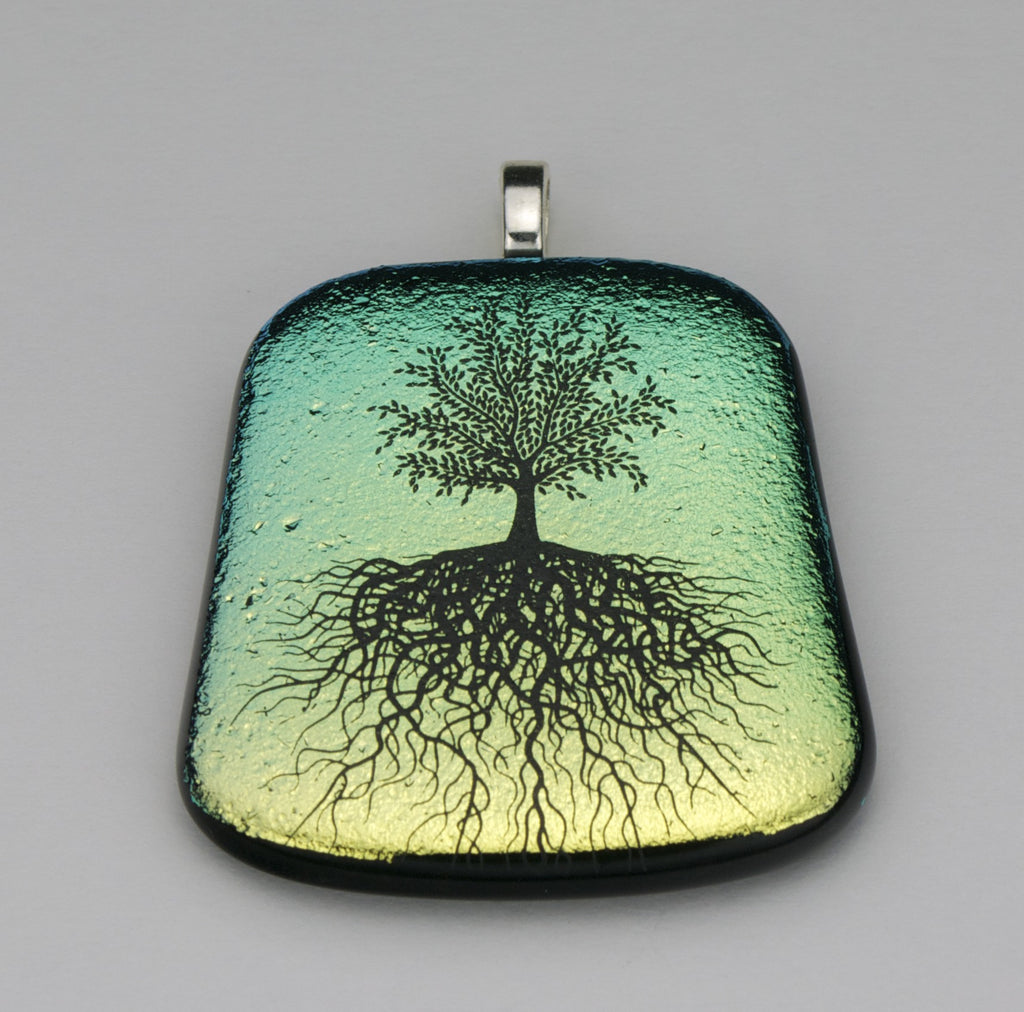 Fused Glass Pendant - Tree of Life - SOLD