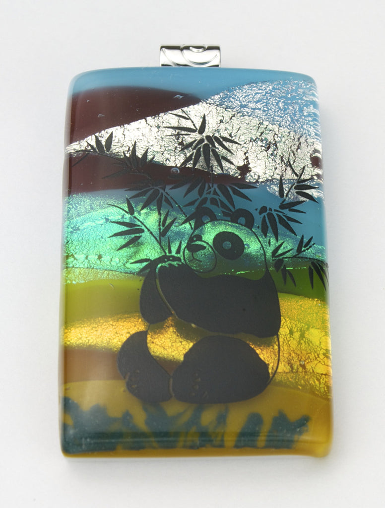 Fused Glass Pendant - Panda
