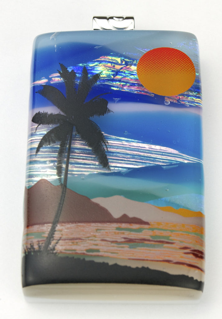 Fused Glass Pendant - Sunny Seaside