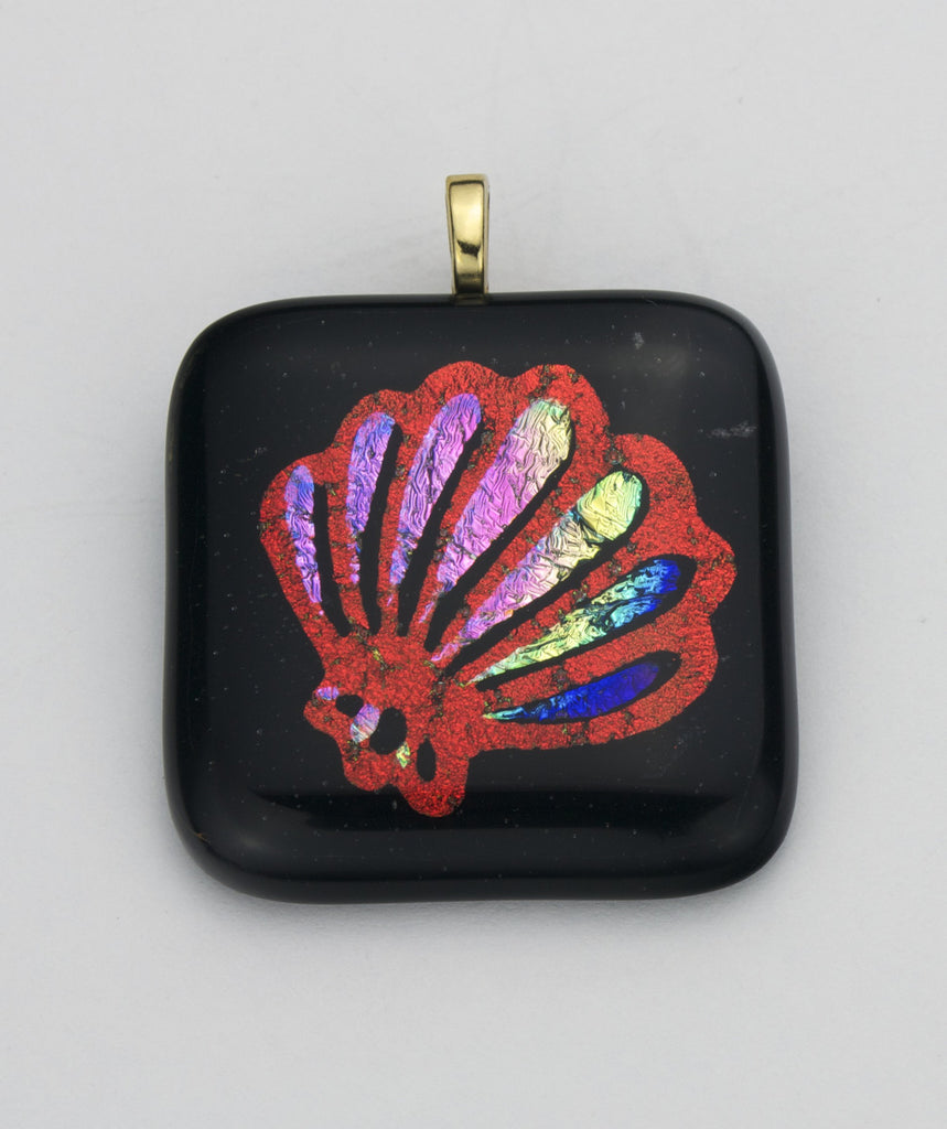 Fused Glass - Seashell Shadow Pendant