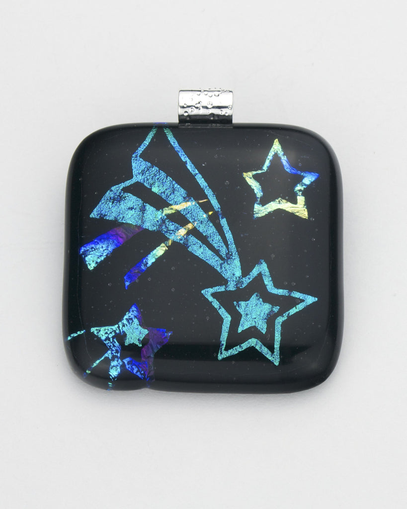 Fused Glass - Shooting Stars Shadow Pendant