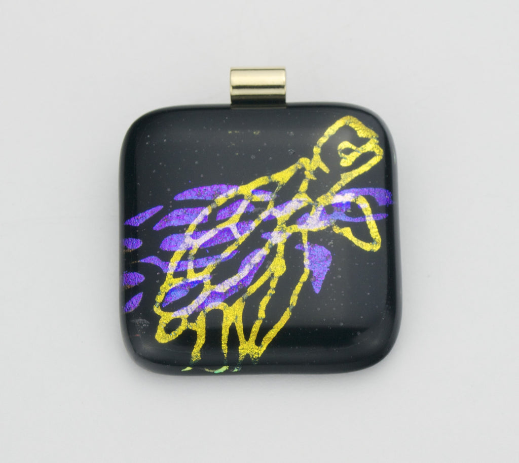 Fused Glass - Sea Turtle Shadow Pendant SOLD
