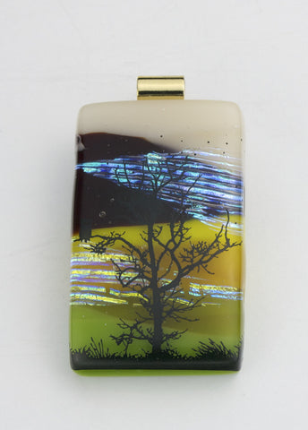 Fused Glass - Owl at Dusk