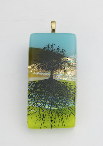 "Fused Glass - ""Tree of Life"" Pendant"