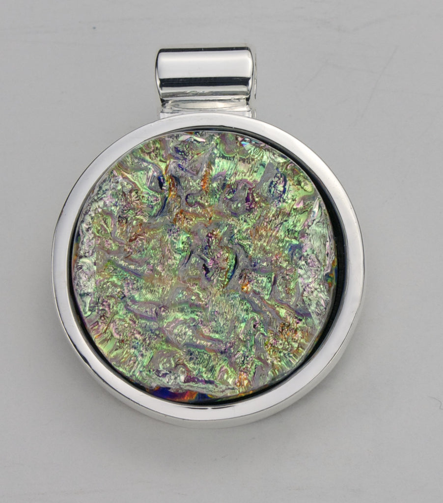 Fused Glass Pendant - Dichroic Glass- SOLD