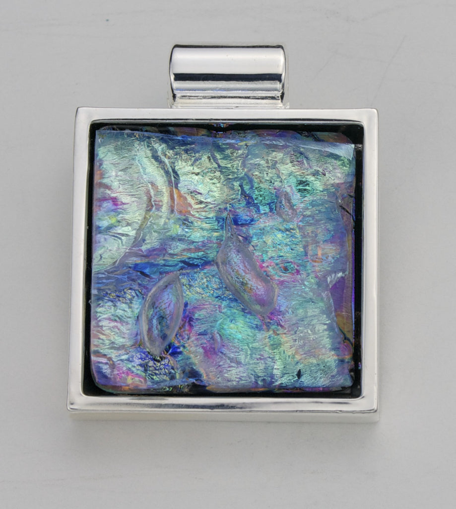 Fused Glass Pendant - Dichroic Glass - SOLD