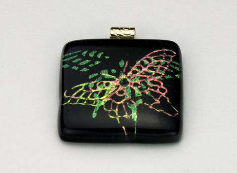 Fused Glass - Butterfly Shadow Pendant
