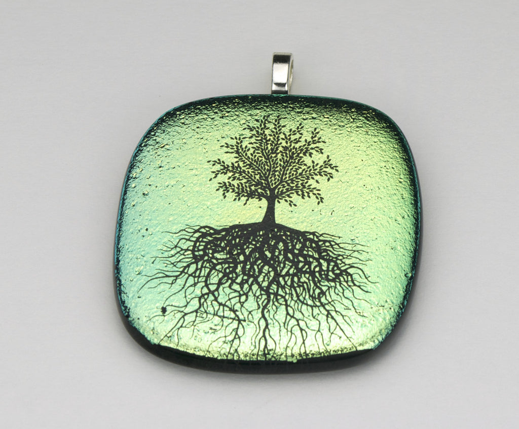 Fused Glass - Tree of Life Pendant