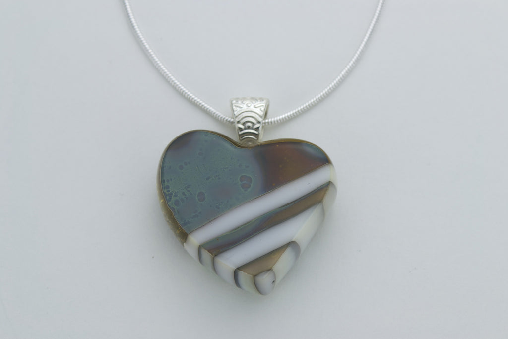 Fused Glass - Heart Pendant