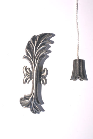 """Pewter"" Cord Pull - Acanthus"