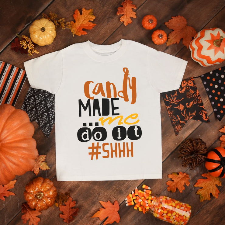 Candy Made Me Do It Halloween Youth Shirt