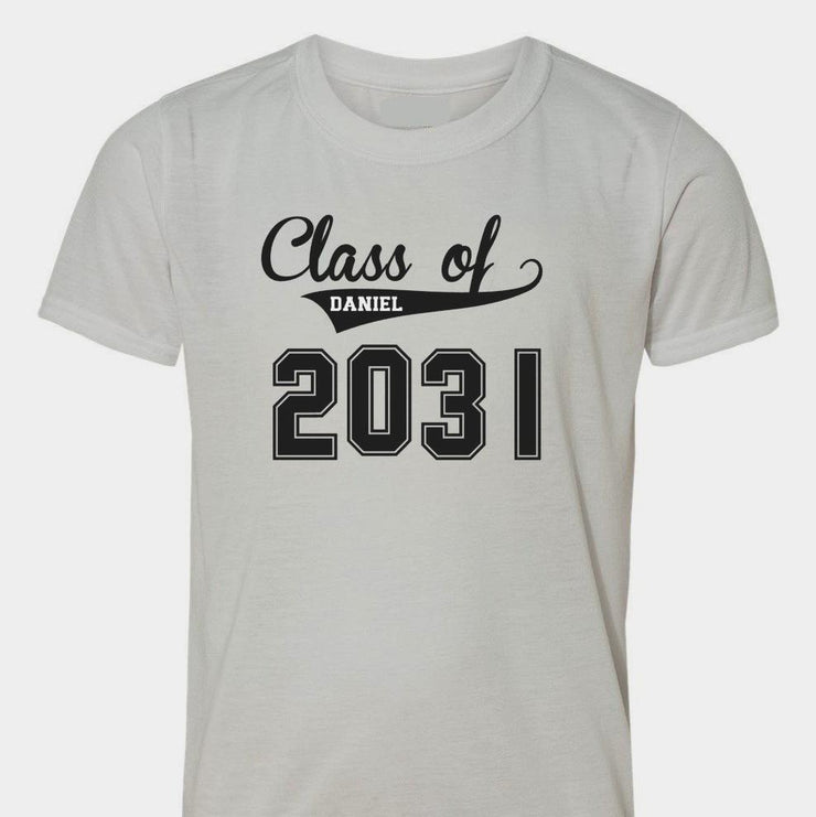 Class of #### - Back To School Shirt BASEBALL STYLE - Any grade