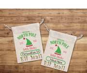 ELF MAIL SACK - Mini Christmas Bag