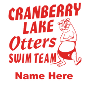 Cranberry Otters - Soda Bottle Personalized Design - BYRAM RESIDENTS ONLY