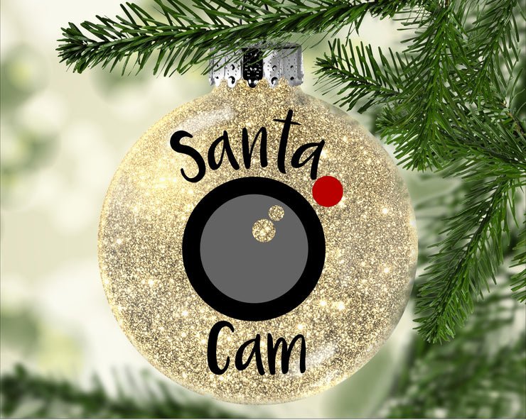 Santa Camera Ornament - Acrylic