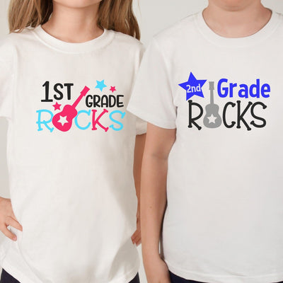 1st GRADE ROCKS - Back To School Shirt - Any grade