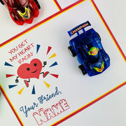 KIDS VALENTINES You Make My Heart Race Exchange Card