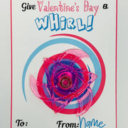 KIDS VALENTINES - Give Valentines a Whirl Fidget Spinner Card