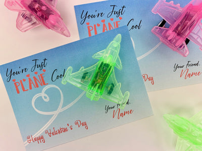KIDS VALENTINES - KIDS VALENTINES Your Are PLANE Cool Card - Pull Back Airplane