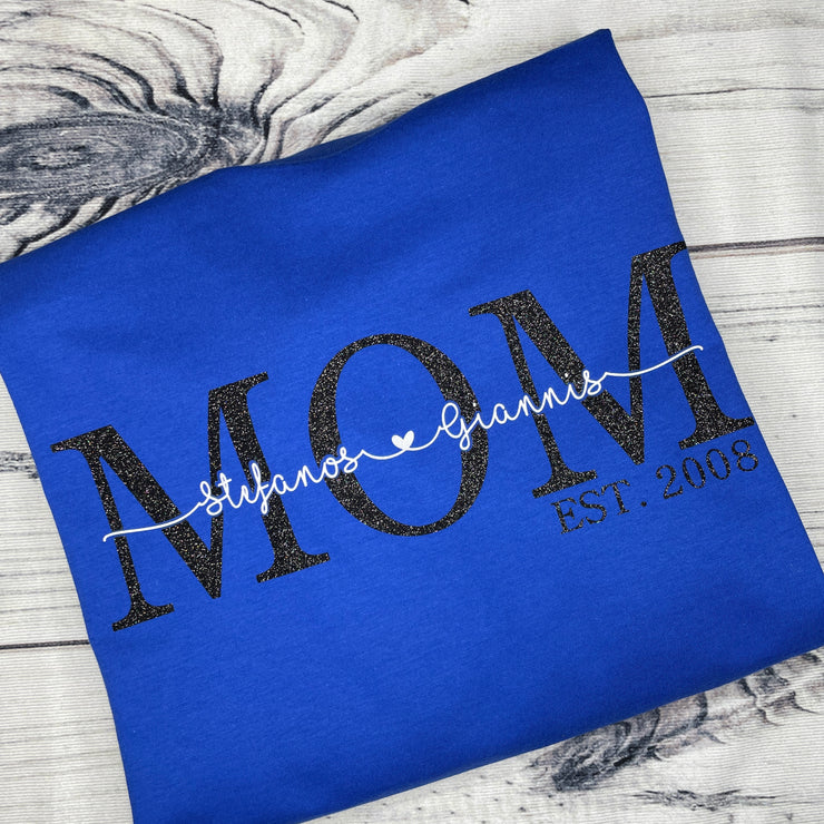MOM Established T-Shirt with Names | ADULT SHIRT