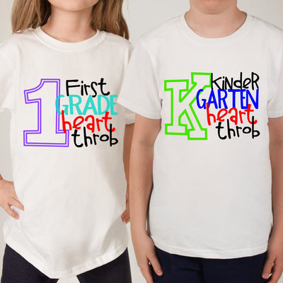 KINDERGARTEN HEART THROB - Back To School Shirt - Any grade