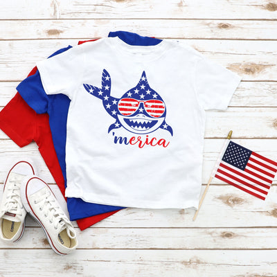 4th of July Shark Patriotic T-Shirt