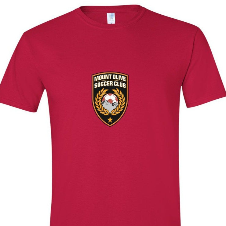 MOUNT OLIVE SOCCER  CLUB SHORT SLEEVE SHIRT |  MOSC APPAREL | ADULT