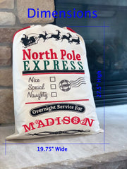 North Pole EXPRESS Santa Gift Bag / Sack