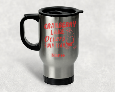 Cranberry Otters Travel Mug - Metal Travel Mug - BYRAM RESIDENTS ONLY