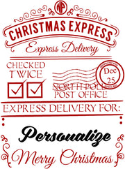 CHRISTMAS EXPRESS MAIL Gift Bag