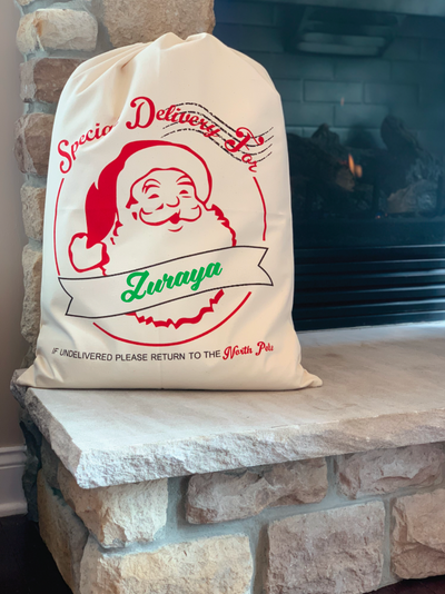 SPECIAL DELIVERY FOR Santa Gift Bag / Sack