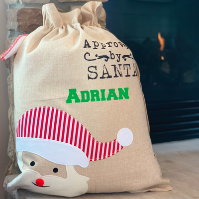 Large Canvas Santa Gift Bag / Santa Sack