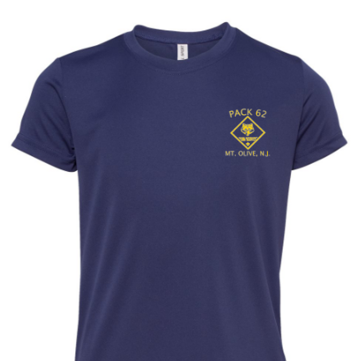 CUB SCOUT PACK 62 HIGH PERFORMANCE DRI-FIT SHIRT  | YOUTH SHIRT