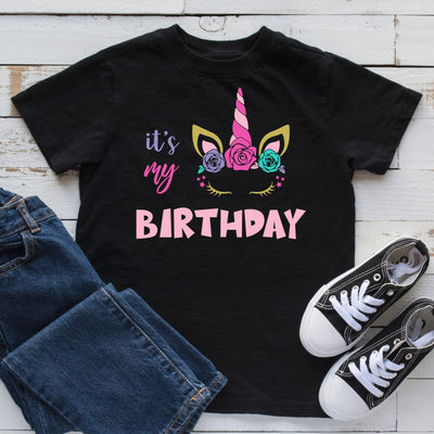 "Unicorn ""It's My Birthday"" T-Shirt"