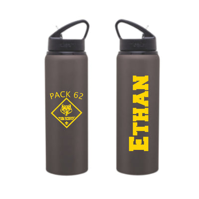 Pack 62 PERSONALIZED WATER BOTTLE - Stainless Steel - His / Her Gift