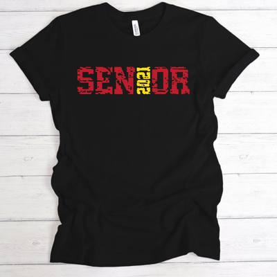 SENIOR 2021 GRUNGE SHIRT | ADULT SHIRT
