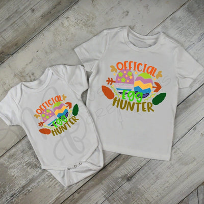 OFFICIALLY an Egg Hunter - boy - girl - Baby / Kids / toddler / Shirt / Easter Shirt