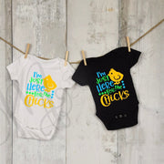 I'm Just Here for the CHICKS , BOY Infant / Toddler / Child Easter Personalized Custom Shirt / One Piece
