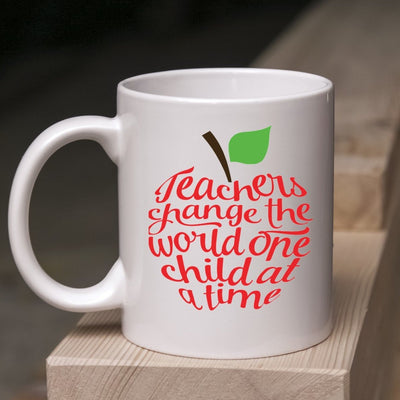 Teachers Change the World One Child at a Time Mug - Teacher Appreciation Week Gift - End of Year Gift - Teachers Change the World