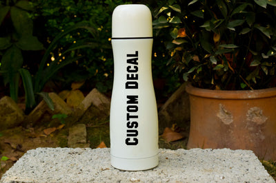 CUSTOM Adhesive Vinyl  Decal - Customize a Water Cup - Sports Cup Decal - Water Bottle Custom - Personalized Decal