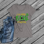 St. Patrick's Day - Women / Mom T - Shirt - One LUCKY MAMA / Momma / Mom