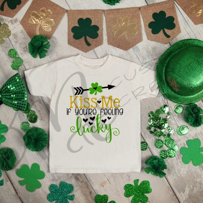 St. Patrick's Day - Baby/Kids Shirt / KISS ME If You are Feeling Lucky / Saint Patrick's -Shirt