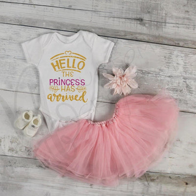 HELLO the Princess has Arrived - Baby / Infant / Baby Girl / Infant Shirt / Hello World / Welcome shirt