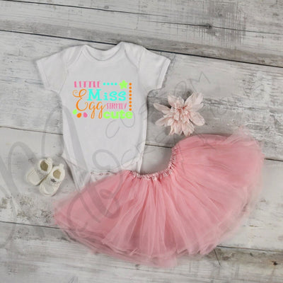 LITTLE MISS EGGSTREMELY Cute, Infant/Child Girl Easter Personalized Custom Shirt
