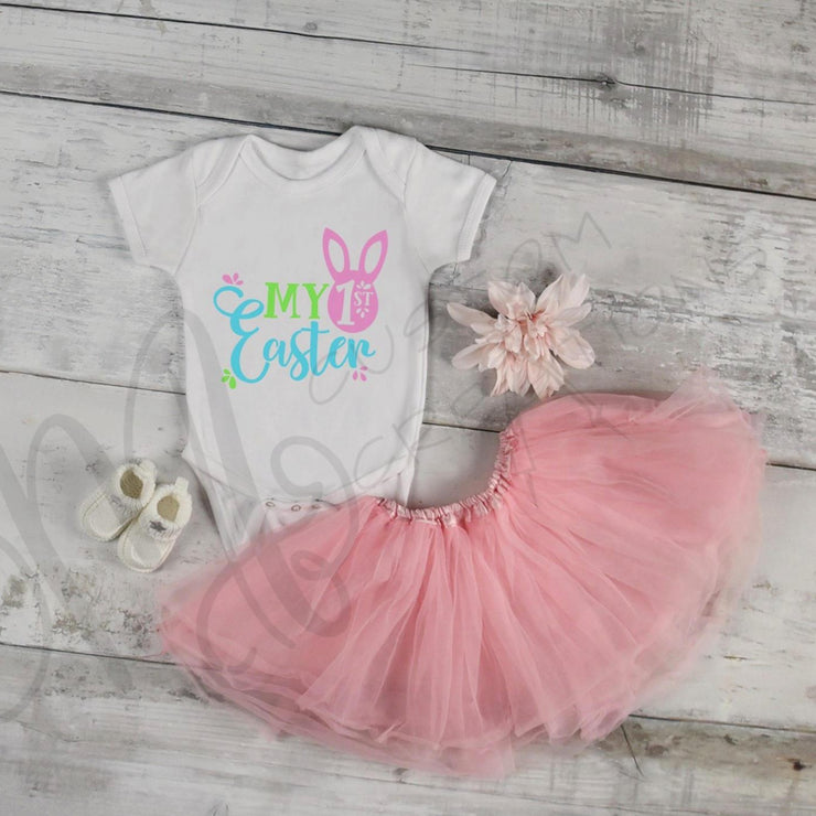 My FIRST ( 1ST)) EASTER, girl Infant/Child Girl Easter Personalized Custom Shirt/Onesie