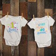 FIRST time HUNTER - My First EASTER - Boy / Girl Infant / Child Easter Personalized Custom Shirt