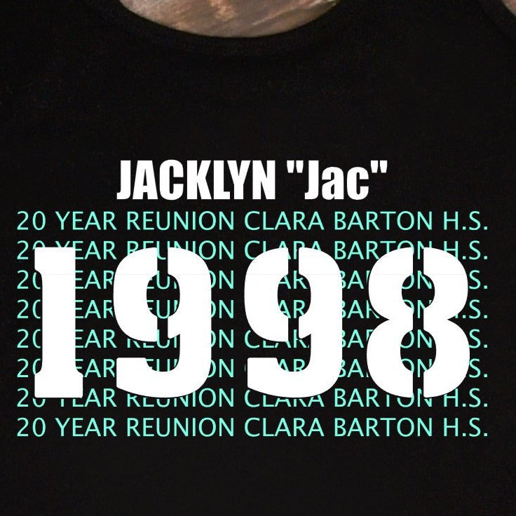 20 Year High School REUNION Shirt - Personalized School Reunion Shirts - Any Year High School Graduation Shirt