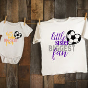 Little Brother / Sister Biggest Fan - SOCCER / Spirit Wear / Sister - Brother Fan - Family Wear