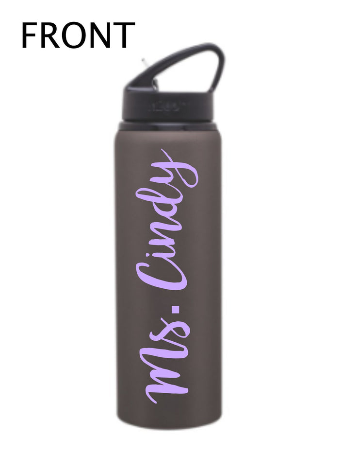 PERSONALIZED WATER BOTTLE - Stainless Steel - Teacher Appreciation - Teacher Gift - Personalized Bottle - His / Her Gift