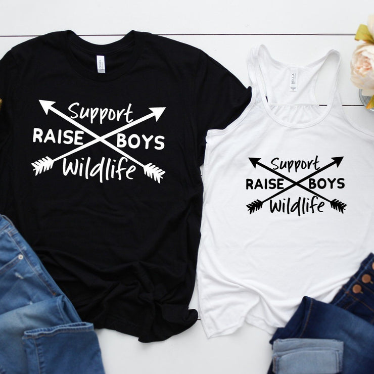 Support Wildlife RAISE BOYS - Boy Mother - Mother Apparel - Everyday Wear - Mother's Day Shirt  Shirt